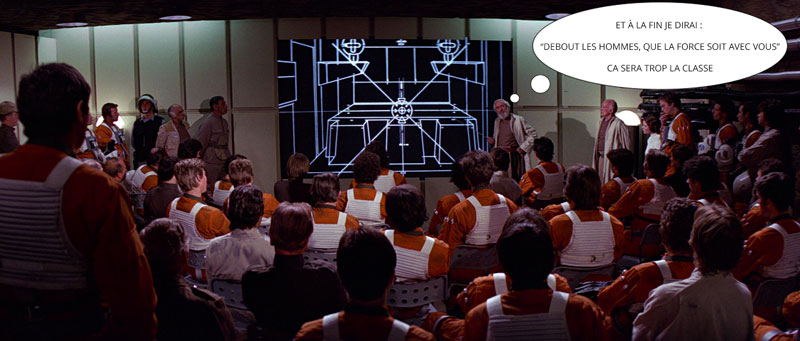 briefing bataille de Yavin